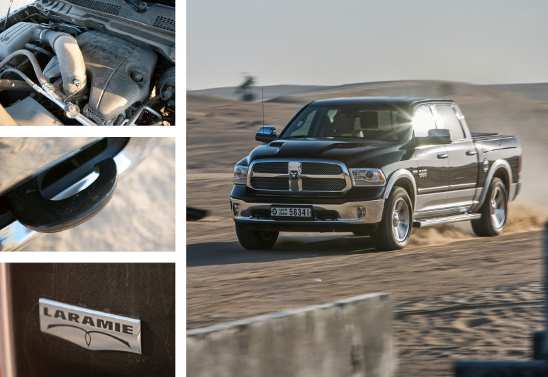 The 1500's 5.7-litre HEMI V8 delivers 395hp and more than 550Nm of torque; plenty of muscle to get you up to speed on the asphalt, and to help you tra
