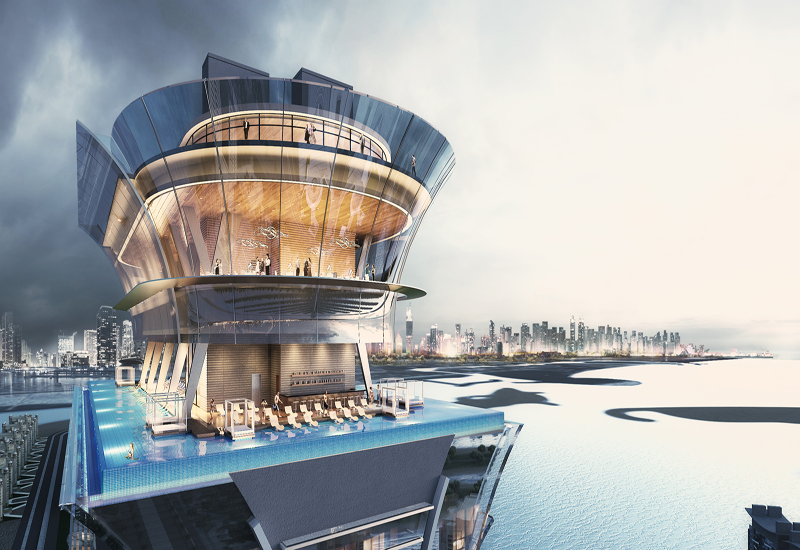 Set to open in 2018, The St. Regis Dubai - The Palm will be a part of Palm Tower.