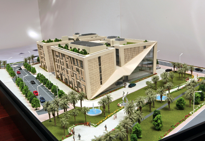 Model of Tadmur Holding HQ in Energy City Lusail.