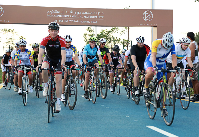 The official opening was marked by over 50 cyclists and joggers testing the 8.4 km track for the very first time.