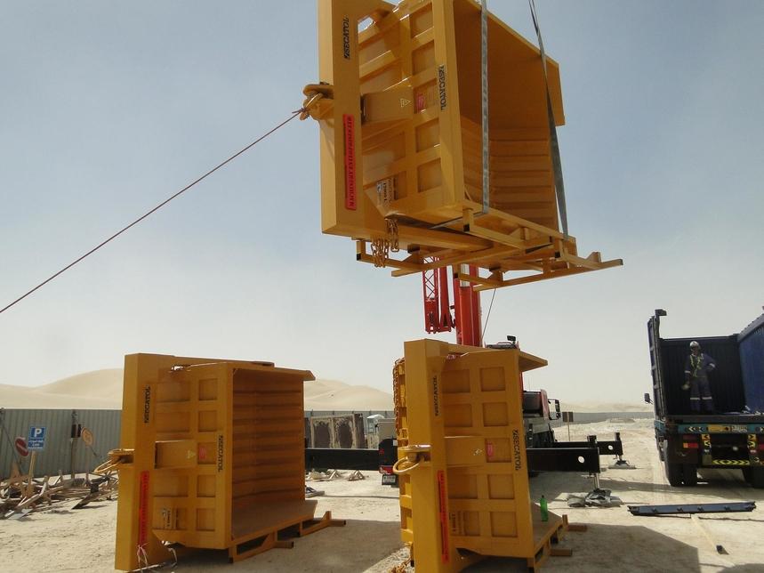 AED350,000 excavation bins delivered to Al Wathba