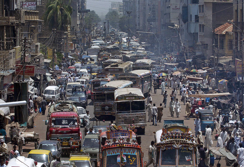 Karachi, 3km from where Island City is planned