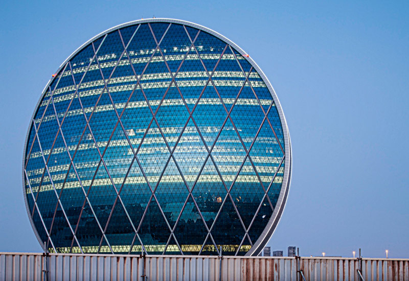 Aldar's headquarters on the outskirts of Abu Dhabi.