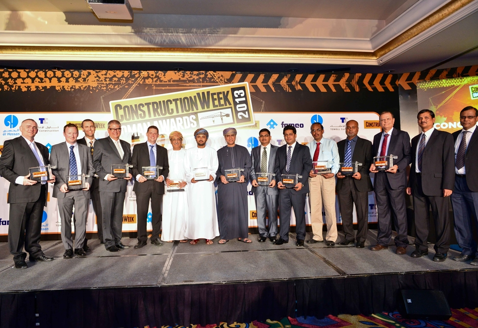 All the winners at the 2013 Construction Week Awards: Oman.