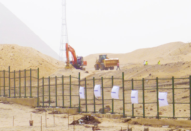 The Six Construct project is set to the dramatic backdrop of the great pyramids.