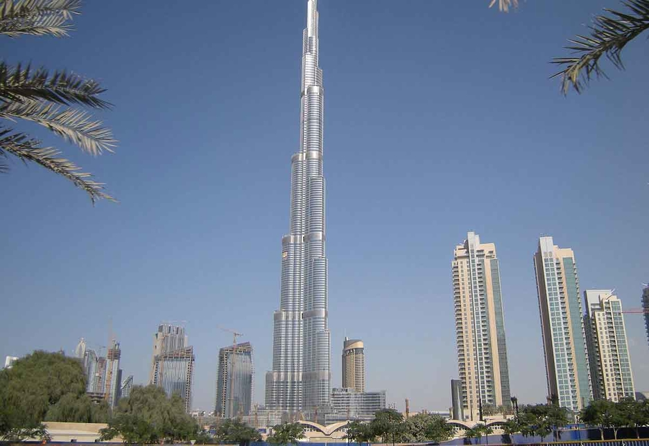 The Burj Khalifa in Dubai currently holds the record for being the world's tallest building at 828m.