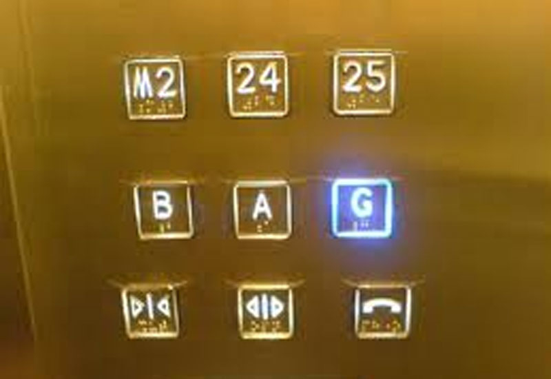 Lift buttons are havens for dangerous germs.
