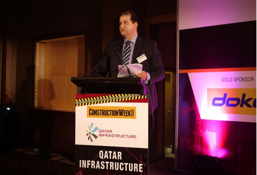 KCT general manager Salim Jerrar speaking at CW's Qatar Infrastructure Conference in December