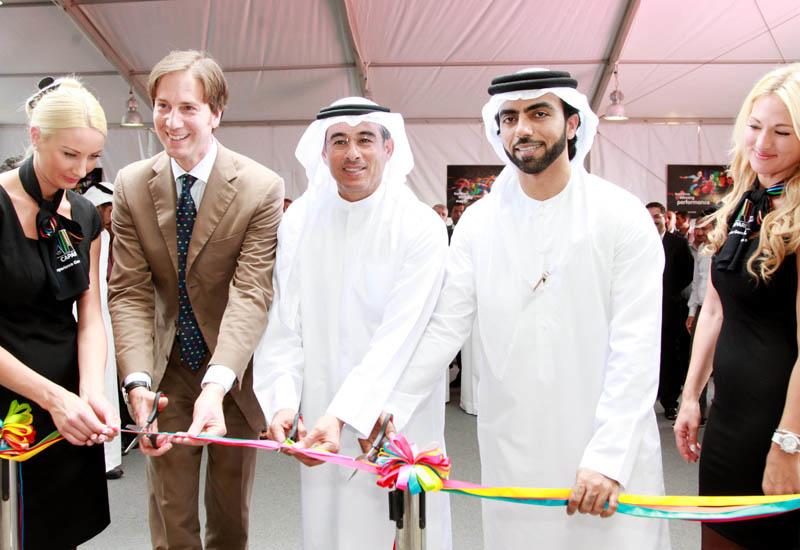 Dr Ralf Murjahn, CEO Caparol; Mohamed Ali Alabbar, chairman of Emaar; Mohammed Saeed Al Raqbani, CEO Emaar Industries & Investments