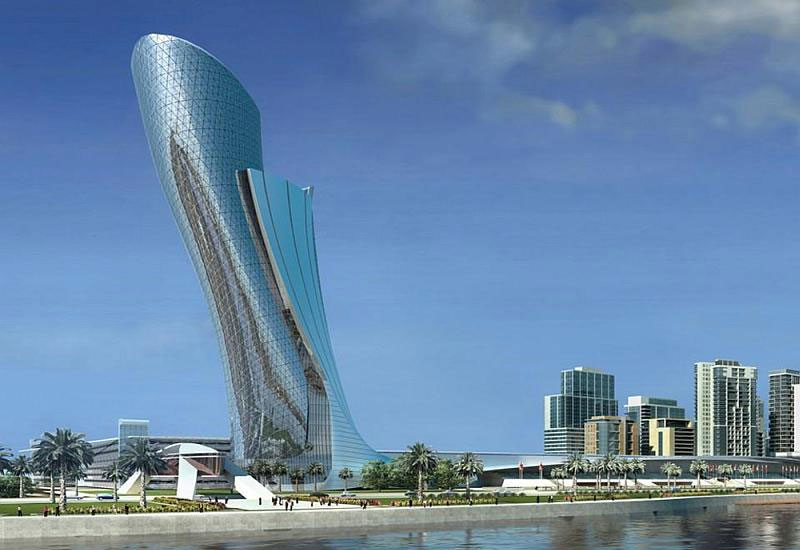 The Capital Gate master development in Abu Dhabi.