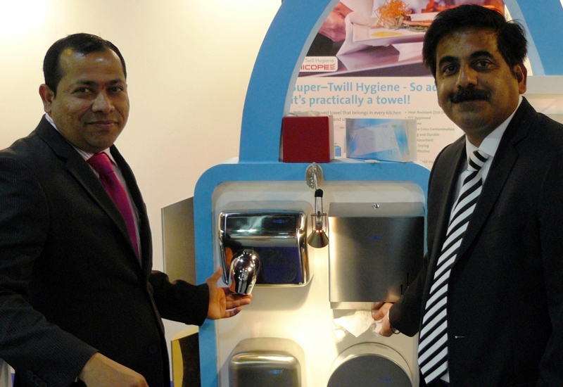 Hand driers versus paper towels? Chandan Singh, deputy general manager of Dhofar Global Trading discusses the topic with Hemant Kambli, general manage