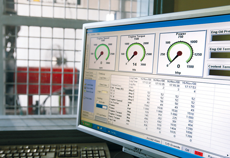 Engine power and torque is measured on a dynomometer to match factory specs.