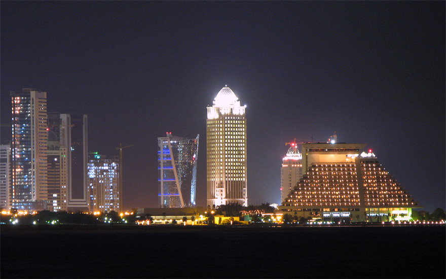 A view of West Bay in Doha, Qatar.