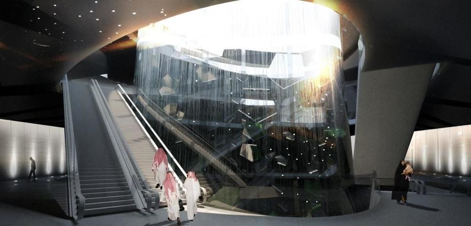 Mild-level platform at Snohetta's Downtown Metro station