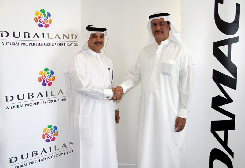 L-R: Dubailand CEO Mohammed Alhabbai and Damac Chairman Hussein Sajwani