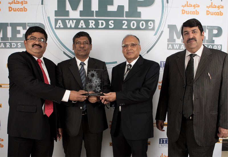 The ETA M&E team at the 2009 MEP Awards (K.M. Jegabber is second from the left).