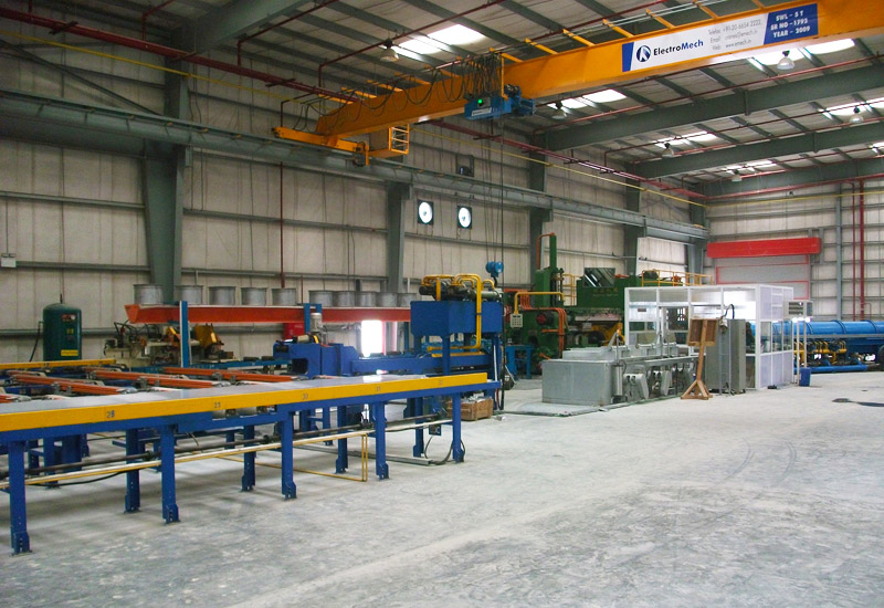 Emirates Extrusion currently operates three presses with a combined rated capacity of 18,000 tonnes a year.