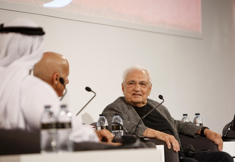 Gehry was in Abu Dhabi alongside Norman Foster and Jean Nouvel.