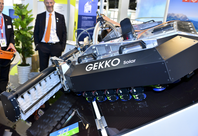 The Gekko in action at the World Future Energy Summit.
