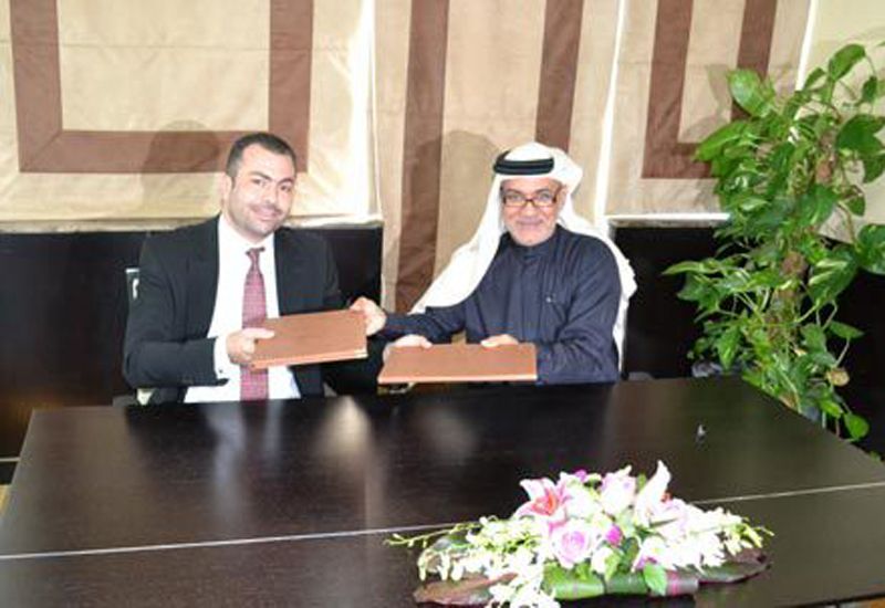 Firas Ibrahim, UAE regional manager, Grohe, with Tayeb Al Rais, secretary-general at AMAF