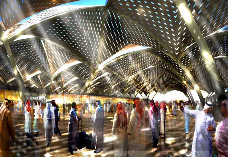 A rendering of one of the Al Haramain stations.