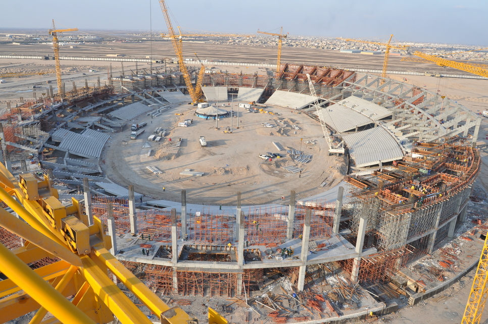 Basra Stadium in Iraq, one of three RMD sport stadium projects