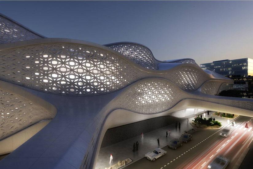 Zaha Hadid-designed KAFD metro station
