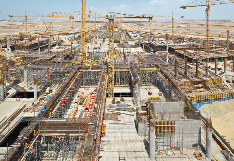 The 27,000m2 transportation centre, the main connecting building for the new passenger terminal at the Jeddah airport, formwork by PERI