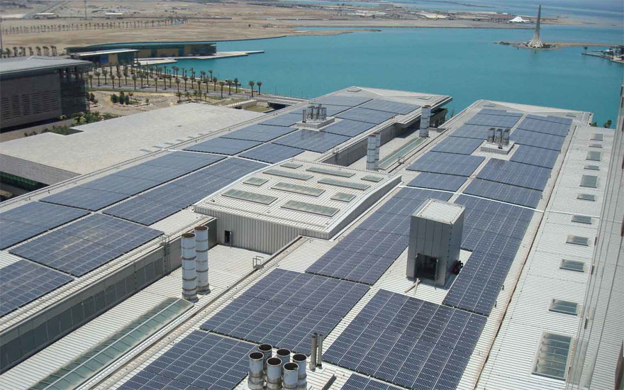 A solar-energy installation at KAUST in Saudi Arabia.
