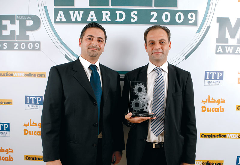 Hussam S. Shayteh and Ahmad Al Naser from MEP contractor Drake & Scull, which won the 2009 'Most Sustainable Project of the Year' at the 2009 MEP Awar