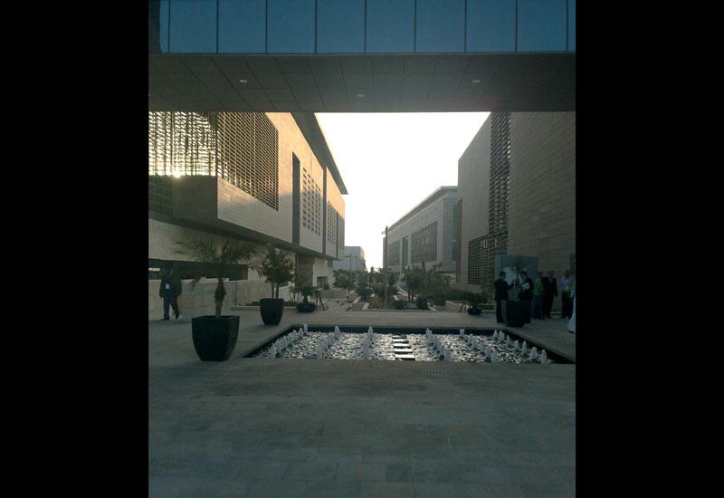 The main entrance of KAUST at Thuwal, near Jeddah in Saudi Arabia