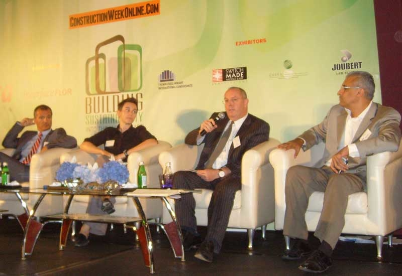 Speakers debate the issues at the Building Sustainability conference.