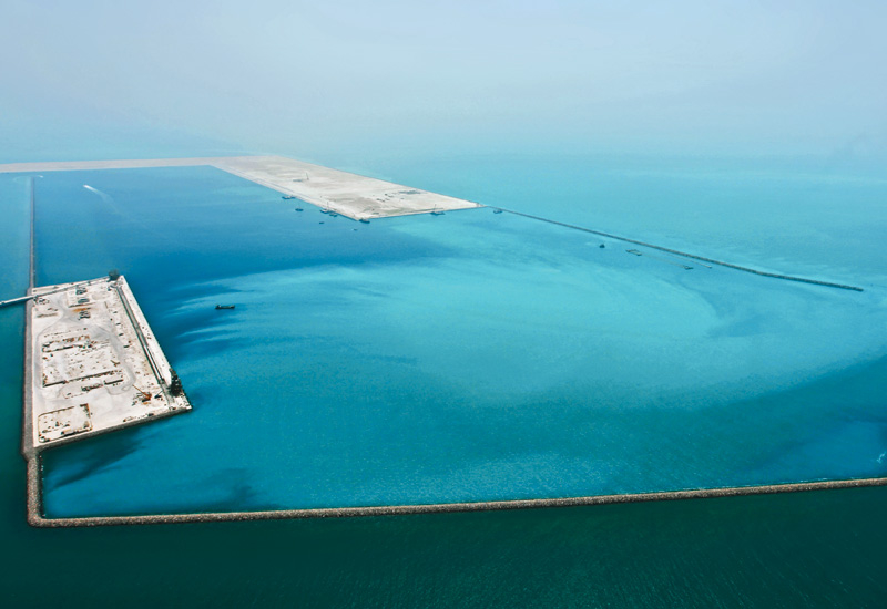 The majority of work on the port has been completed.