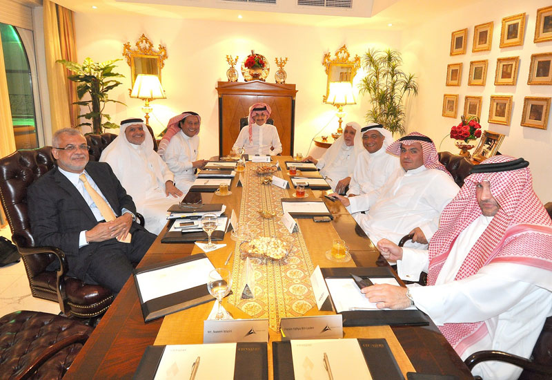 Board meeting of partners behind the Kingdom Tower project