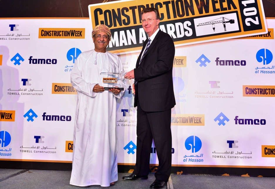 Maqbool bin Hameed Al Saleh (l) was presented with his Lifetime Achievement Award by Famco's Paul Floyd.