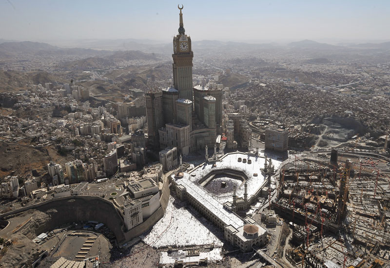 Officials say more than 7,000 properties in Makkah will be demolished in 2012 to make way for the Grand Mosque expansion. Photo: Getty.
