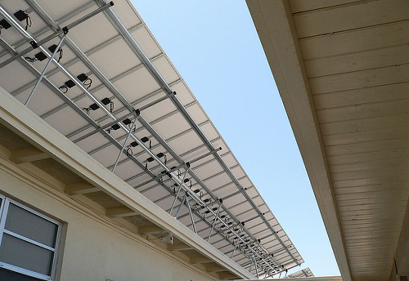 An example of BIPV applied to a solar roof.