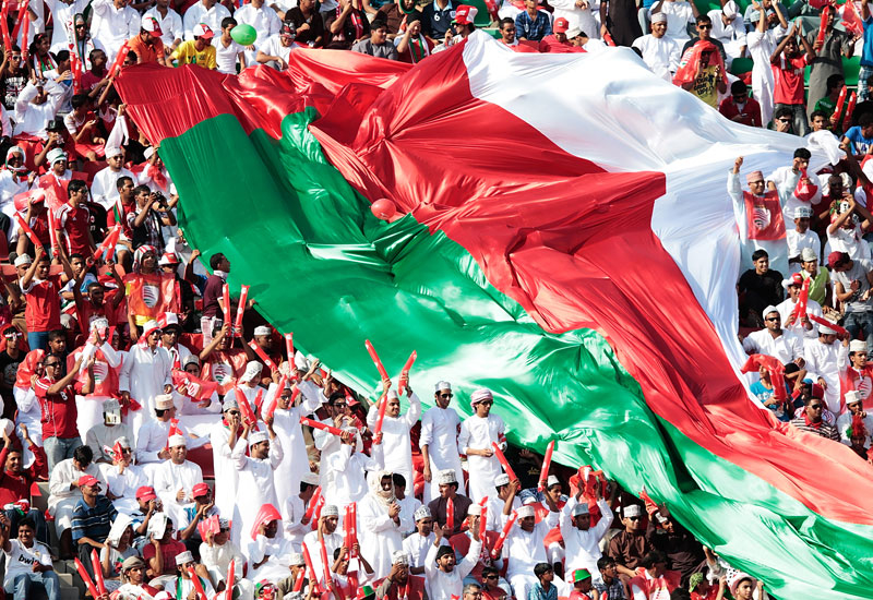 Oman football fans at a recent World Cup qualifier against Japan (Photo: Adam Pretty/Getty Images)