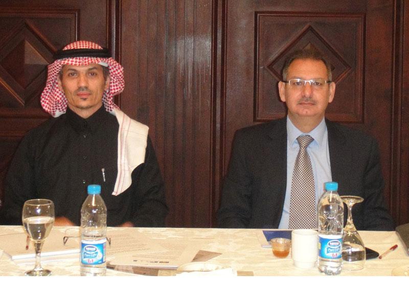 PMI-AGC President Eng Mohammed Hammad and VP Eng Samir Ashour.