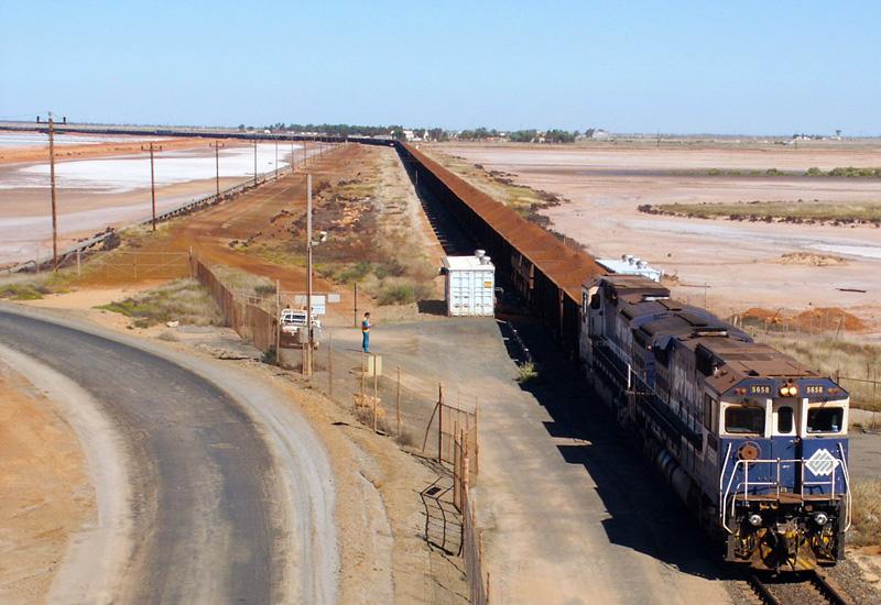 An existing rail in Port Hedland, Western Australia