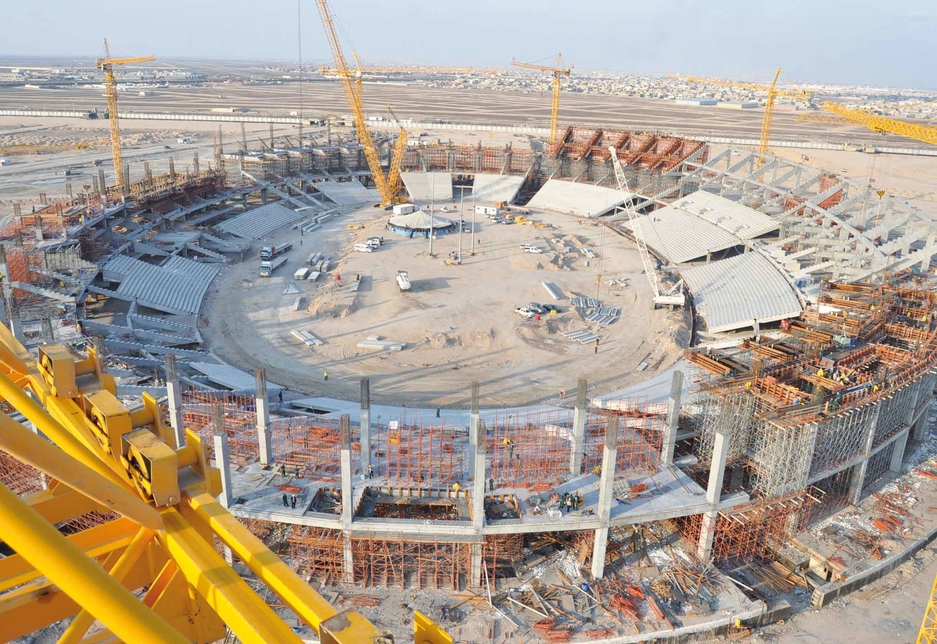 RMD kit on site at the 65,000 seat Basra Sports City Stadium.