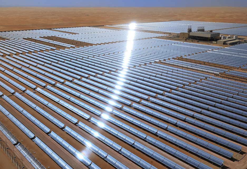 Shams 1 incorporates more than 258,000 mirrors mounted on 768 parabolic troughs.