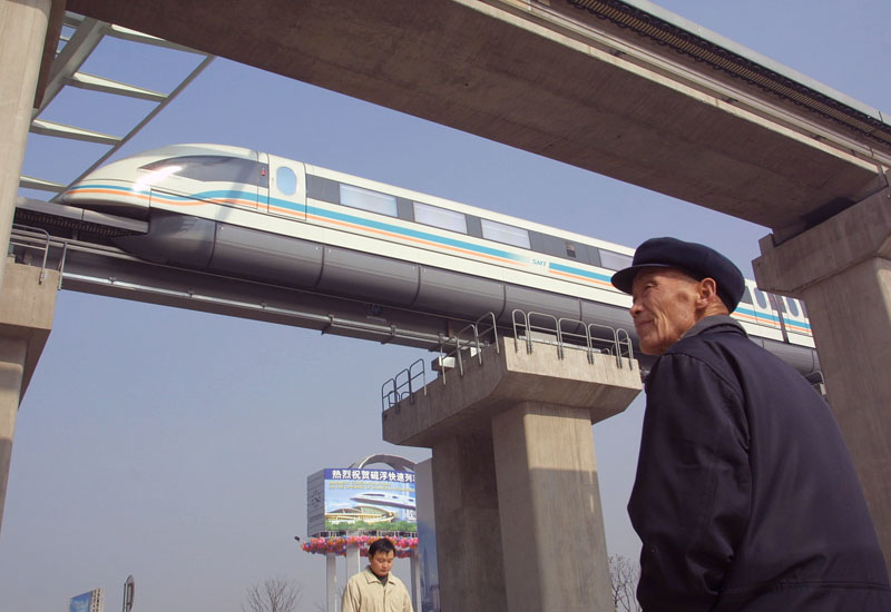 The Shanghai Maglev Train opened as the first commercially operated high-speed magnetic levitation in the world in 2004. (Image: Kevin Lee)
