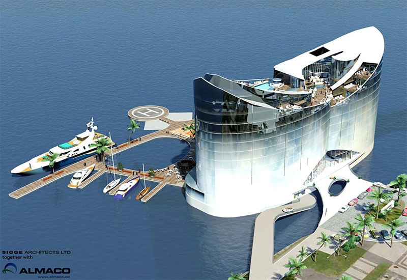 The 'floating hotel' concept by Sigge Architects and the Almaco Group of Finland.