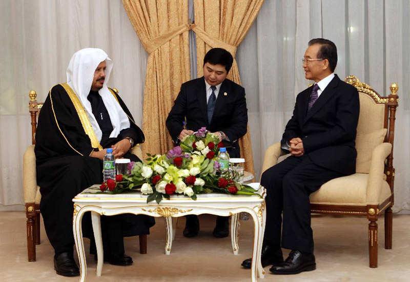 High profile Sino-Arabian talks in January between Chinese Premier Wen Jiabao and the Speaker of the Majlis Ash-Shura Council Abdullah Al-Sheikh
