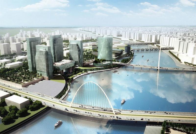 The Sowwah Island development in Abu Dhabi.