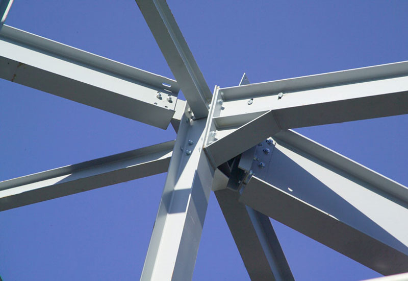 An example of structural steel members.