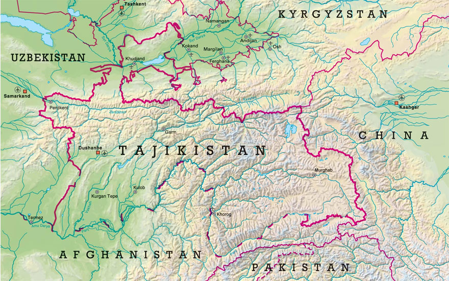 Tajikistan is a mountainous, landlocked country in Central Asia.