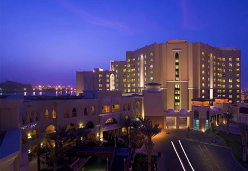 The facade of the Traders Hotel in Abu Dhabi.