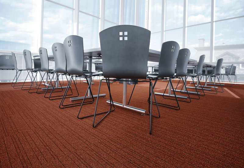 Air Master is a new kind of high-tech carpet that traps and immobilizes dust, improving indoor air quality